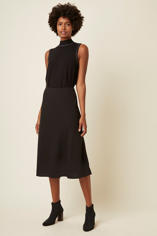 cara fitted midi skirt