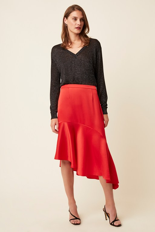 claude satin midi skirt