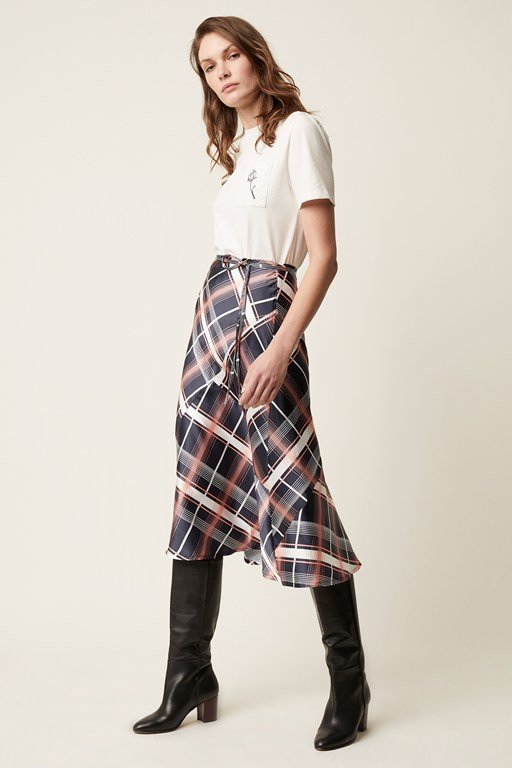 wallace check skirt