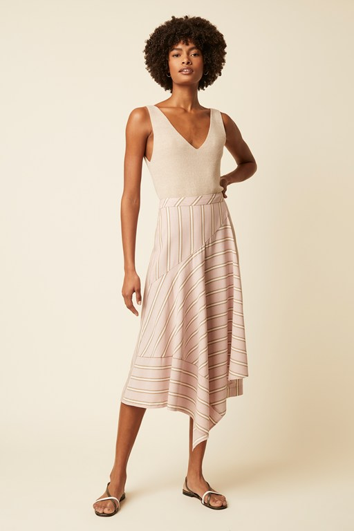 palermo stripe skirt