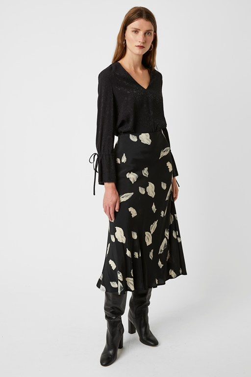 winter umbra midi skirt