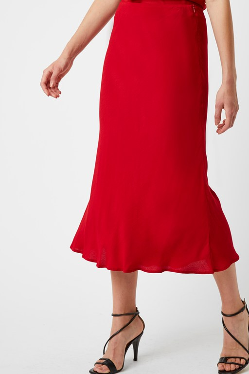 winter midi slip skirt