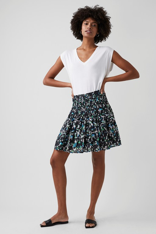 summer floral mini skirt