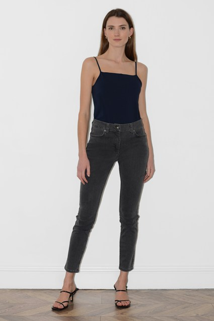 Grey Wash High Waisted Reform Jeans