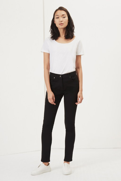 black reform high waisted jeans