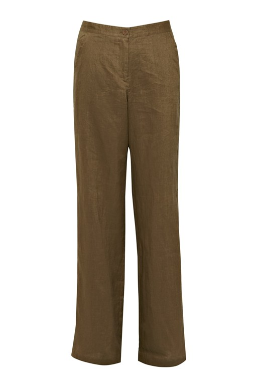 whitby linen wide leg trousers