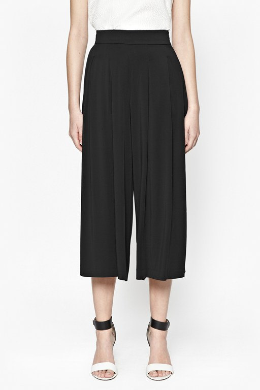 Complete the Look Night And Day Pleated Culottes