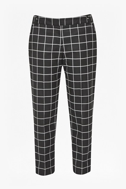 Herringbone Checked Cigarette Trousers