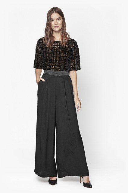 Midnight Wide Leg Trousers