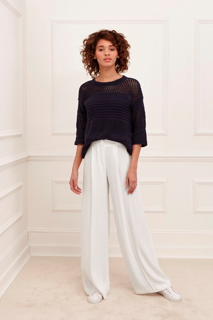 Monaco Crepe Wide Leg Trousers