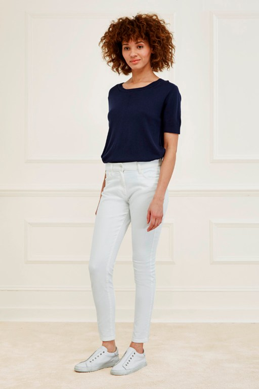 blanco denim skinny jeans