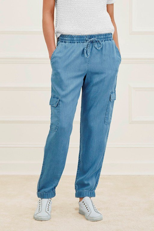 nairobi denim cargo trousers