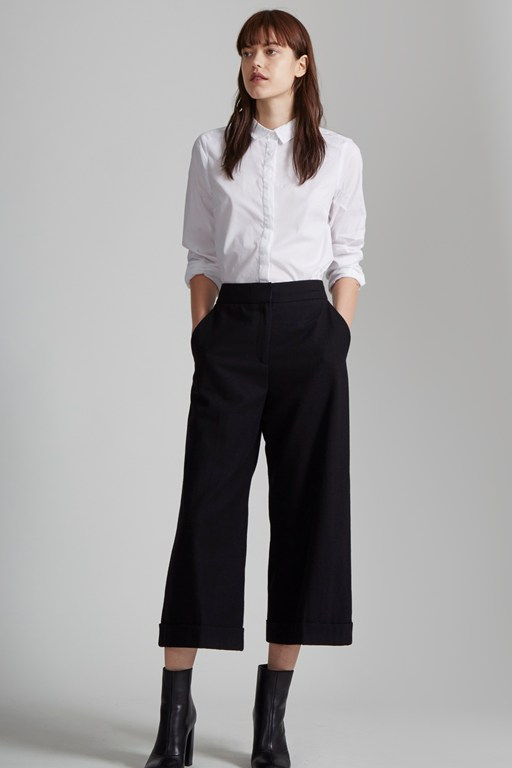 Complete the Look Ida Flannel Wide Leg Culottes