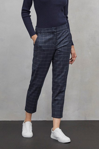 Katrina Check Tailored Trousers