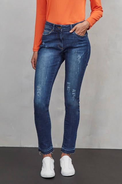 Real Deal Raw Hem Jeans