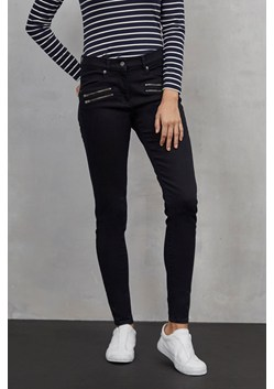 Blue Black Zipped Skinny Jeans