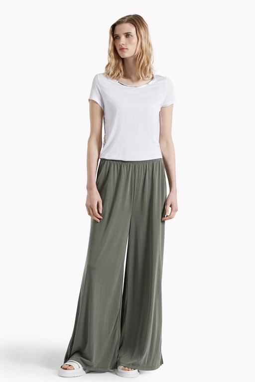 so peachy wide leg jersey trousers