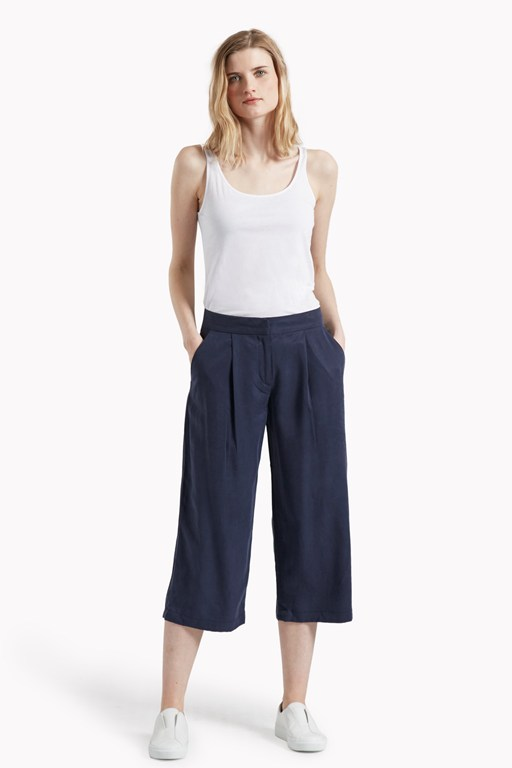 timed out tencel culottes