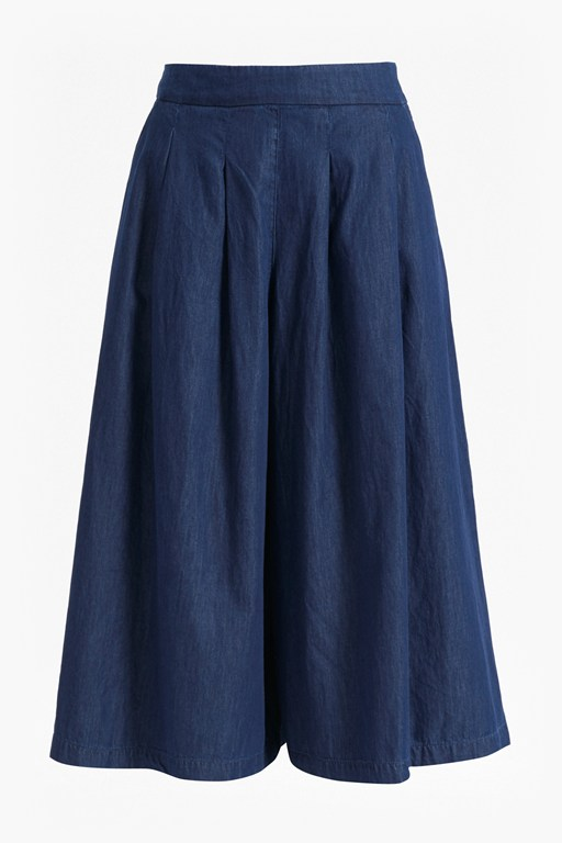 Complete the Look Lightweight Denim Flared Culottes