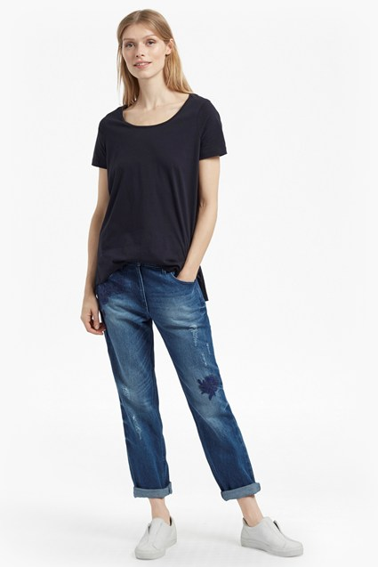 Flora Denim Floral Embroidered Jeans