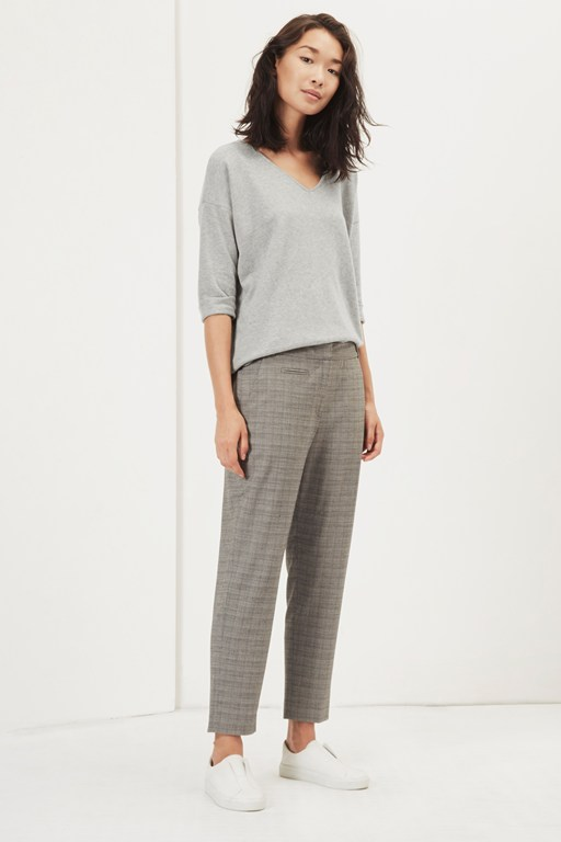 tiger wale check tailored trousers