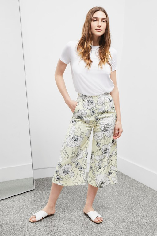 tropical flora culottes