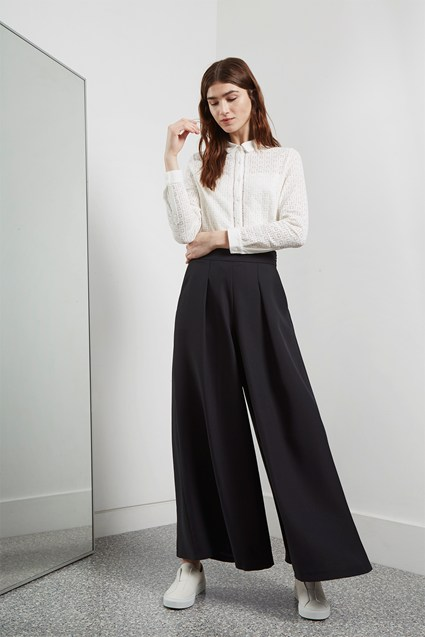Deana Crepe Wide Leg Trousers