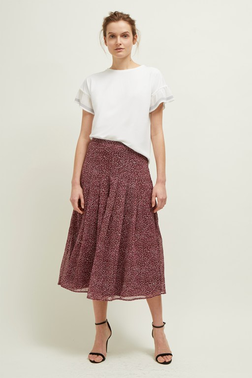 mini leopard pleated culottes