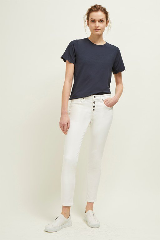 button mid rise skinny jeans