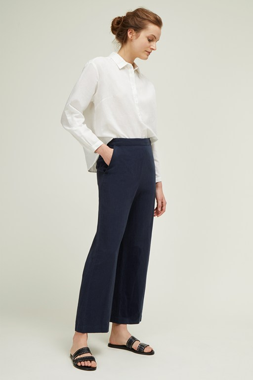 dana blend wide leg trousers