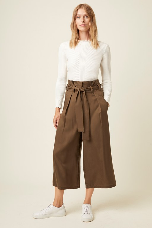 beau belt wide leg trouser