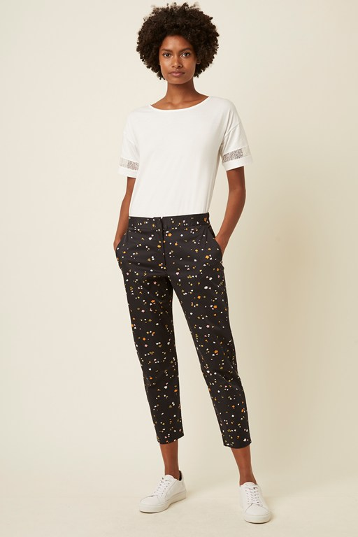 abstract fleur stretch trouser