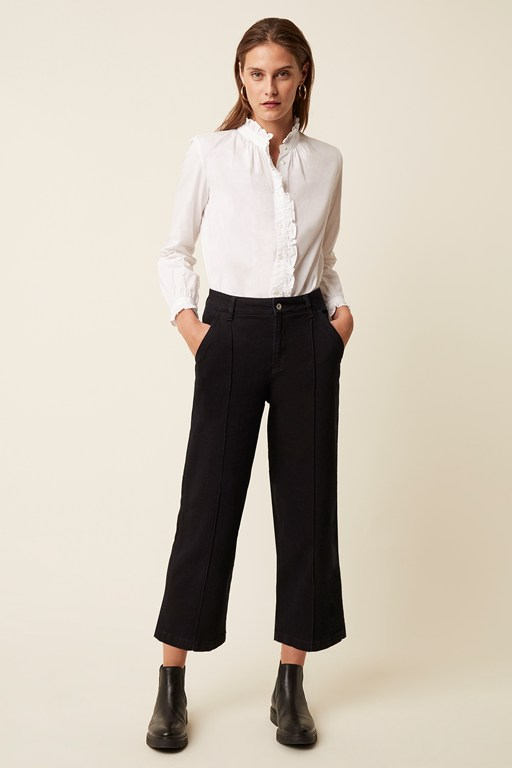 enzo denim wide leg jeans