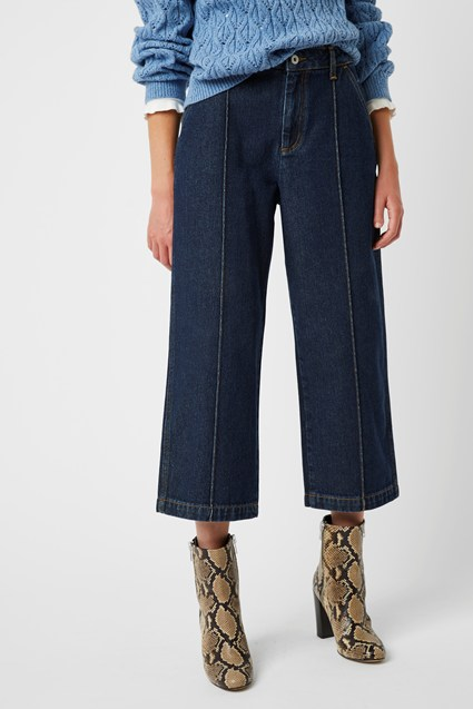 Enzo Denim Wide Leg Jean