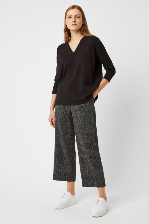 modern tweed trouser