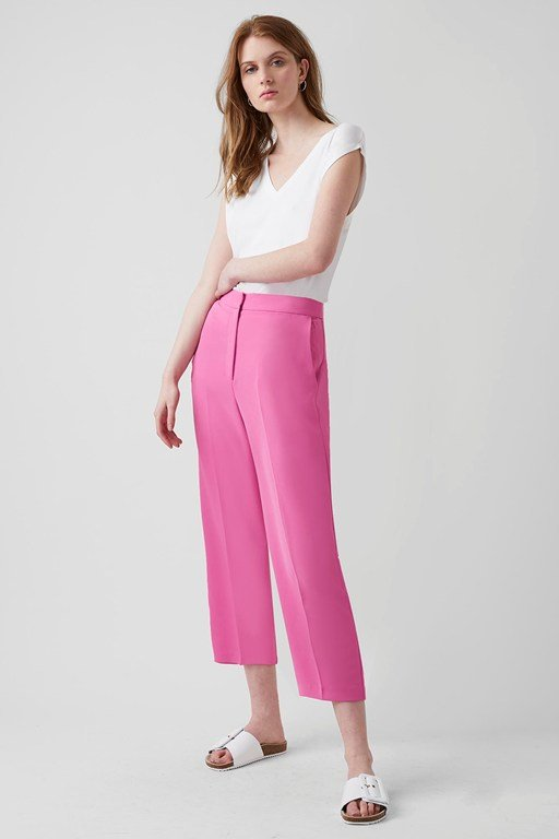 modern crepe tailored trousers