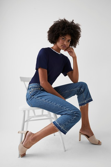 Heavy Denim Straight Leg Jeans
