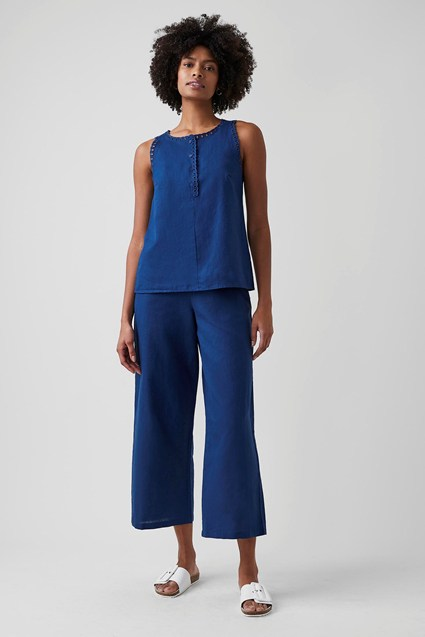 Cali Cropped Wide Leg Trousers