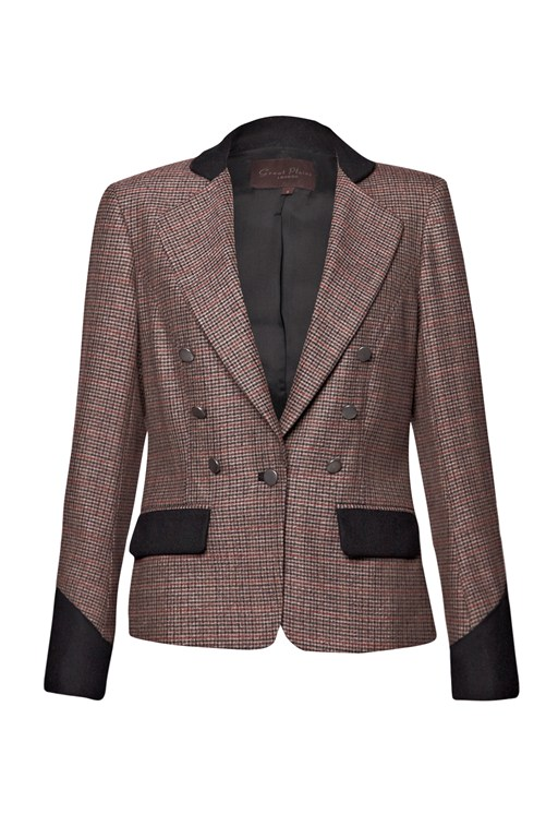 Complete the Look Tally Ho Checked Jacket