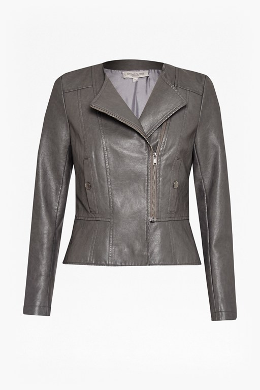 bronx biker faux leather jacket