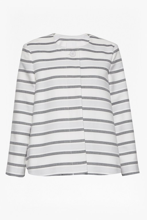 Complete the Look Sofia Stripe Single Button Jacket