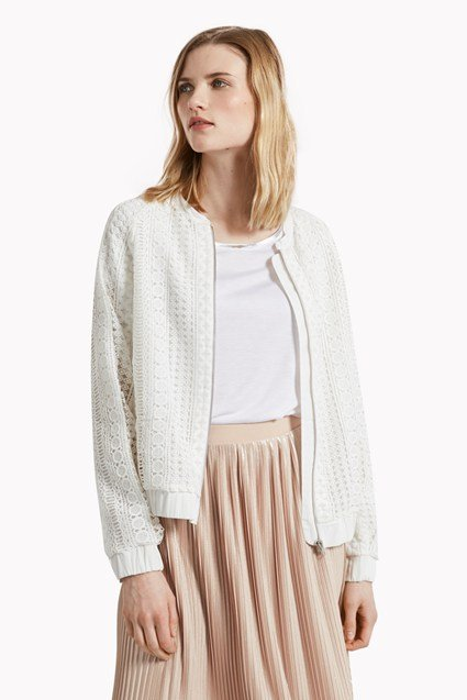 Lucia Lace Mix Bomber Jacket