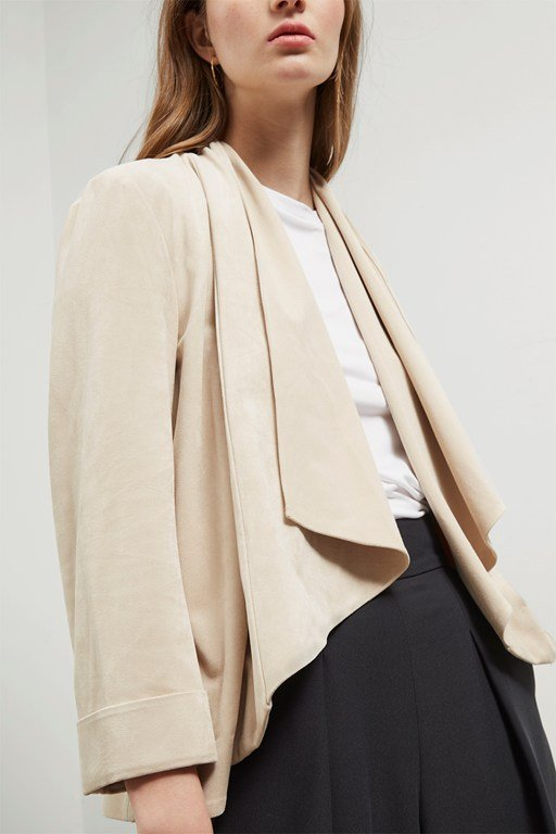 sian suedette waterfall jacket