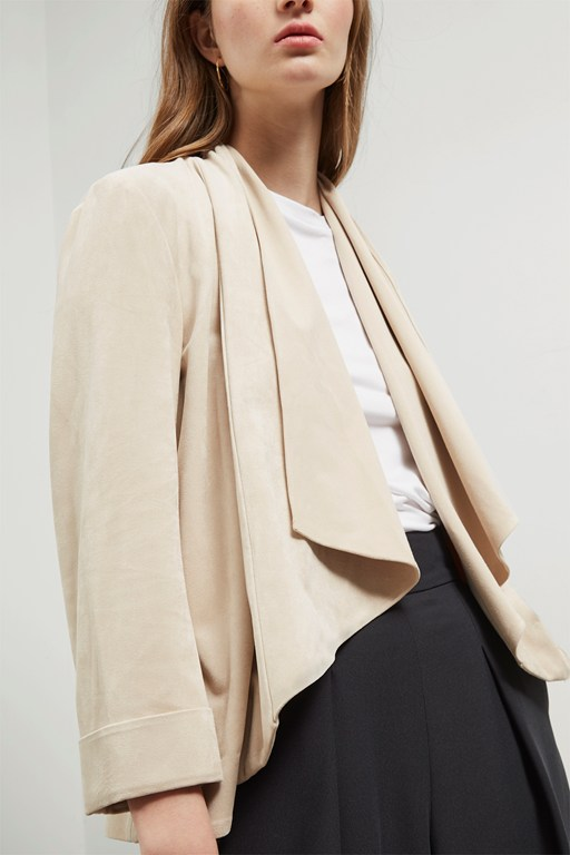 Complete the Look Sian Suedette Waterfall Jacket