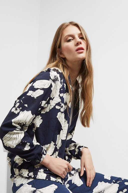 Complete the Look Tropical Flora Bomber Jacket