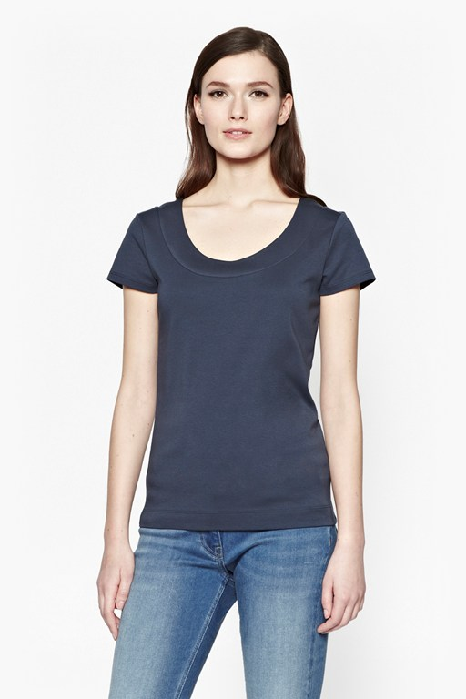 scoop neck cotton t-shirt