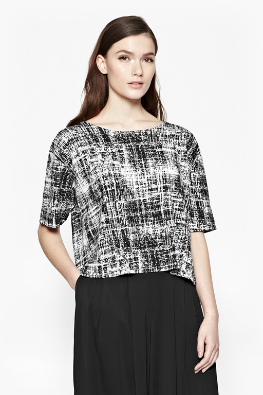 crosshatch structured t-shirt