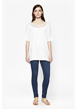 Lacy Mix-Up Lace Longline T-Shirt