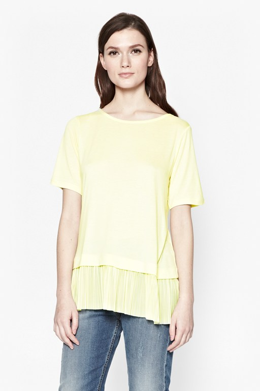 aphrodite pleated t-shirt