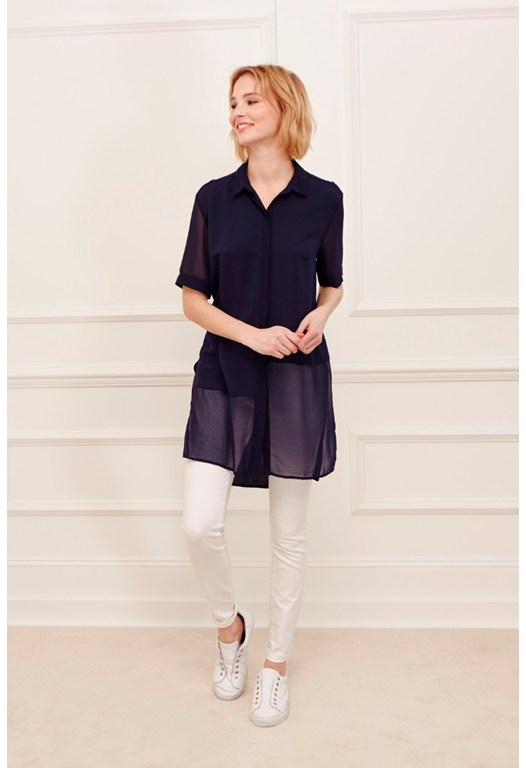 Remix Jersey Longer Length Shirt